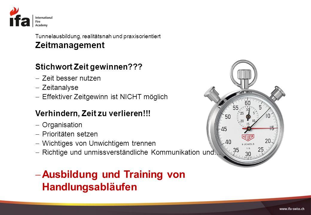 Ausbildung und Training von Handlungsabläufen