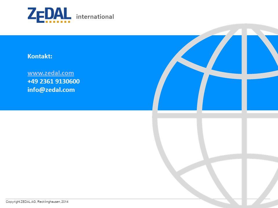 international Kontakt: www.zedal.com +49 2361 9130600 info@zedal.com