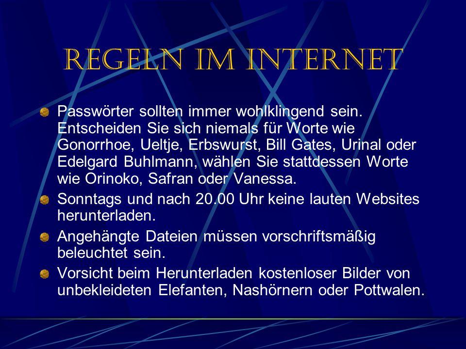 Regeln im Internet