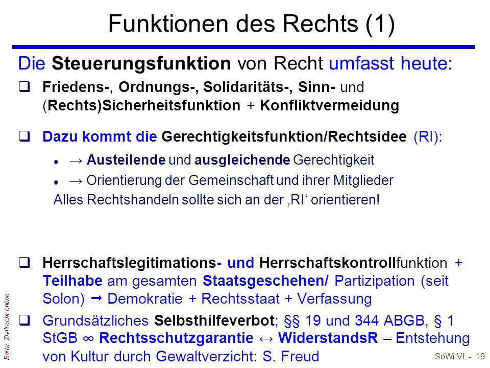 Funktionen des Rechts (1)