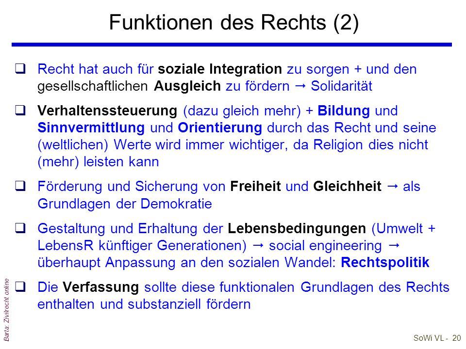 Funktionen des Rechts (2)