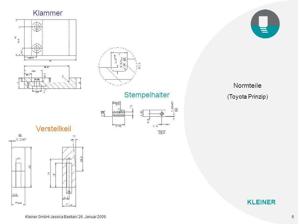 Klammer Normteile (Toyota Prinzip) Stempelhalter Verstellkeil