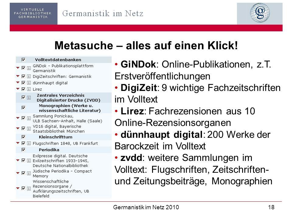 Metasuche – alles auf einen Klick!