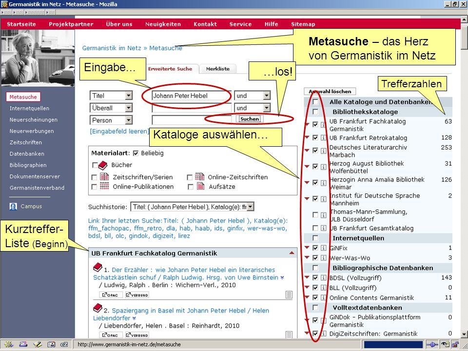 Metasuche – das Herz von Germanistik im Netz