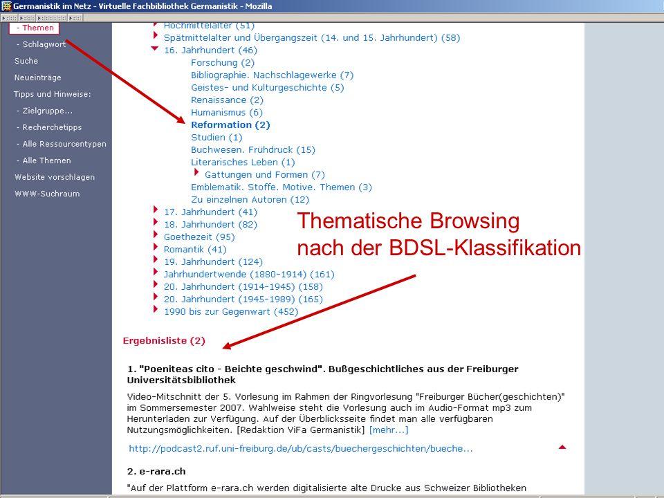 nach der BDSL-Klassifikation