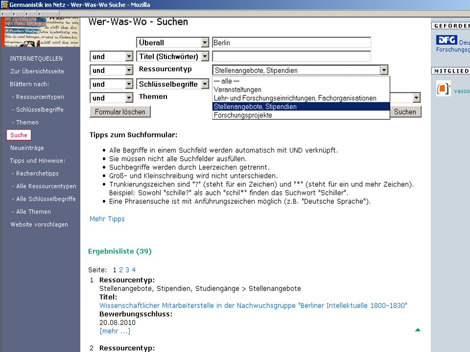 Germanistik im Netz 2010