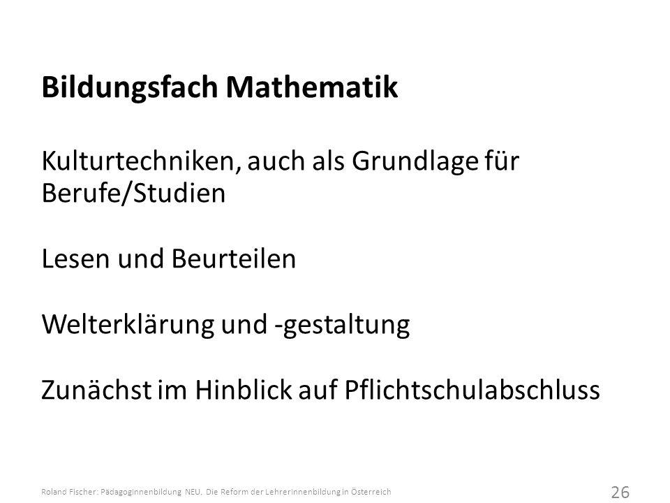 Bildungsfach Mathematik