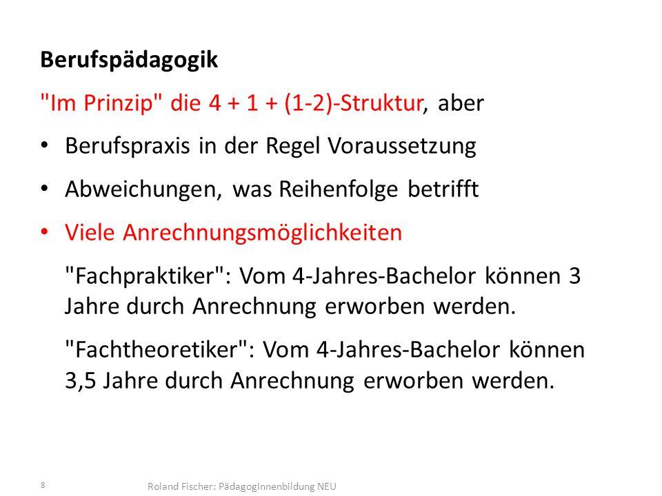 Roland Fischer: PädagogInnenbildung NEU