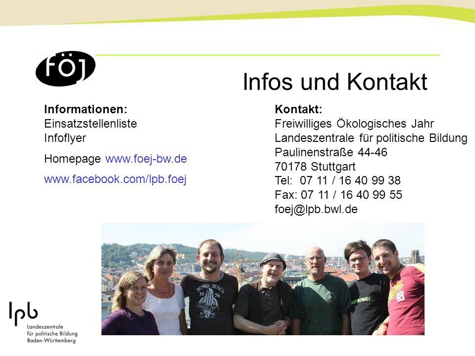 Infos und Kontakt Informationen: Einsatzstellenliste Infoflyer