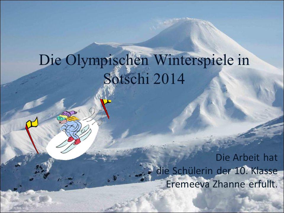 Die Olympischen Winterspiele in Sotschi 2014