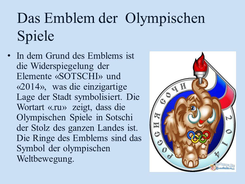 Das Emblem der Olympischen Spiele