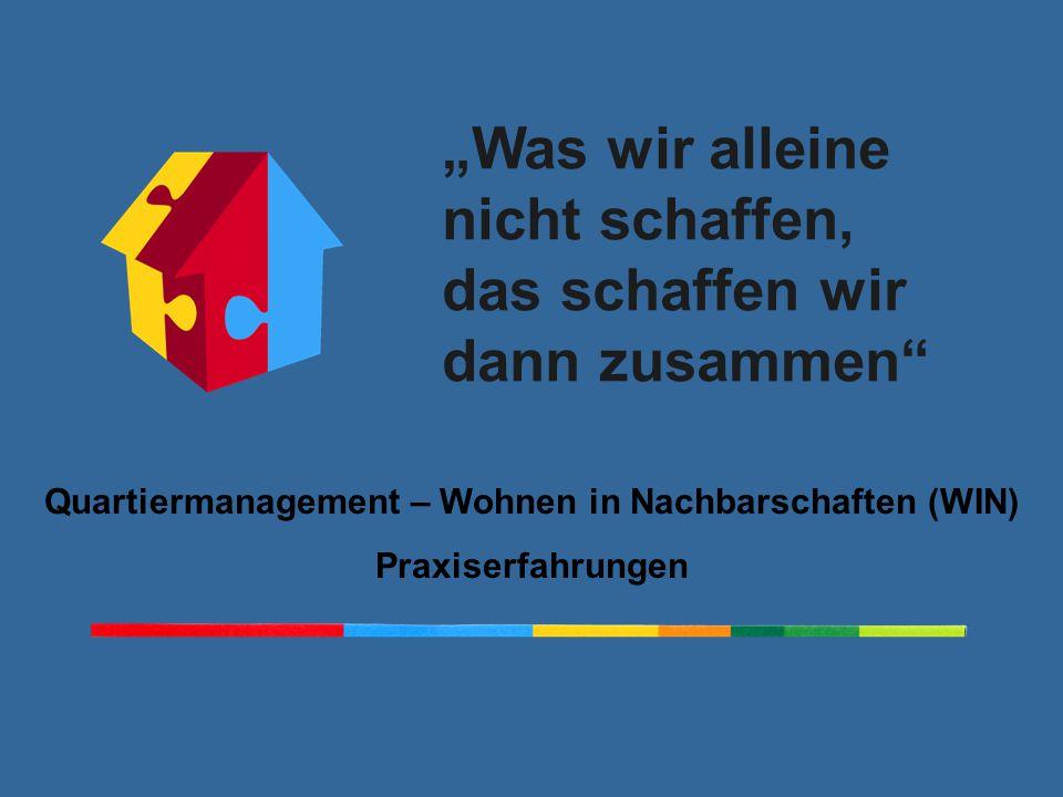 Quartiermanagement – Wohnen in Nachbarschaften (WIN)
