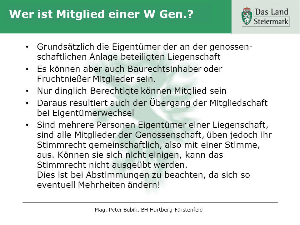 Wer ist Mitglied einer W Gen.
