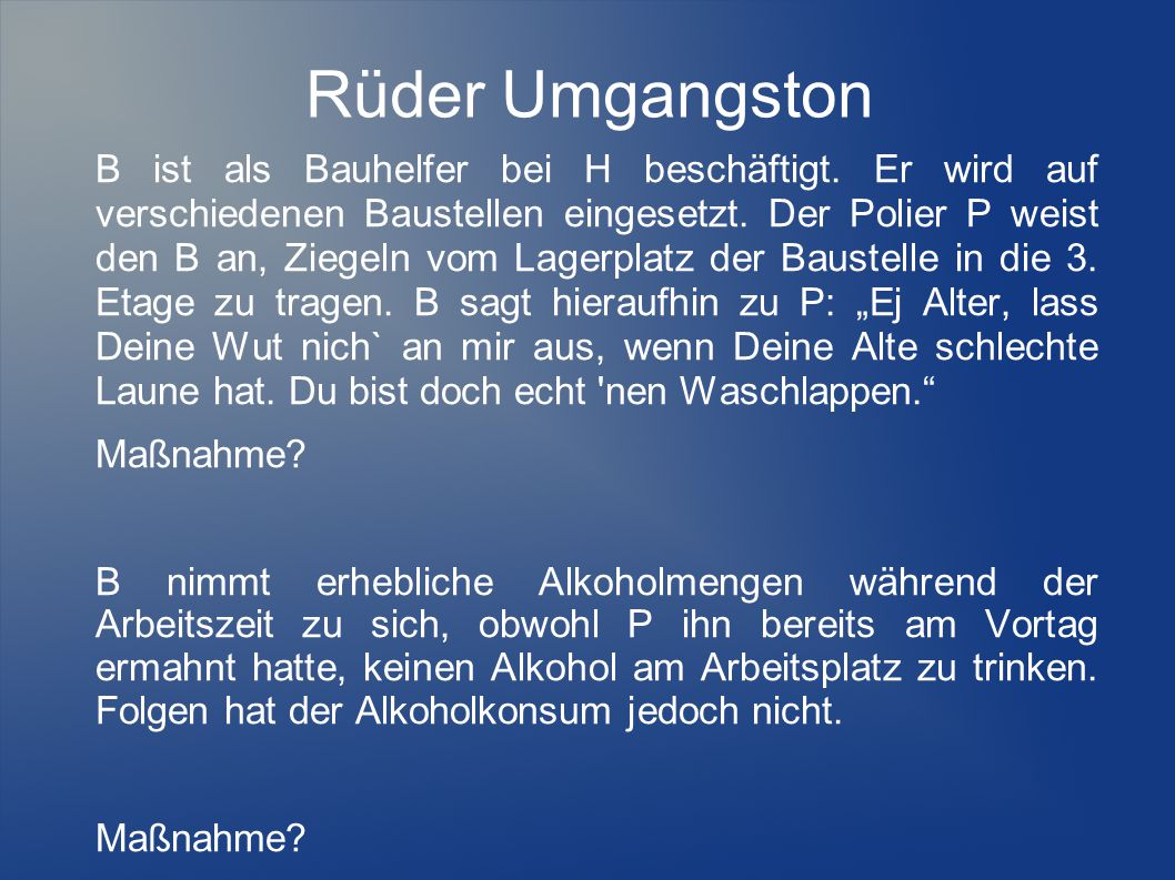 Rüder Umgangston