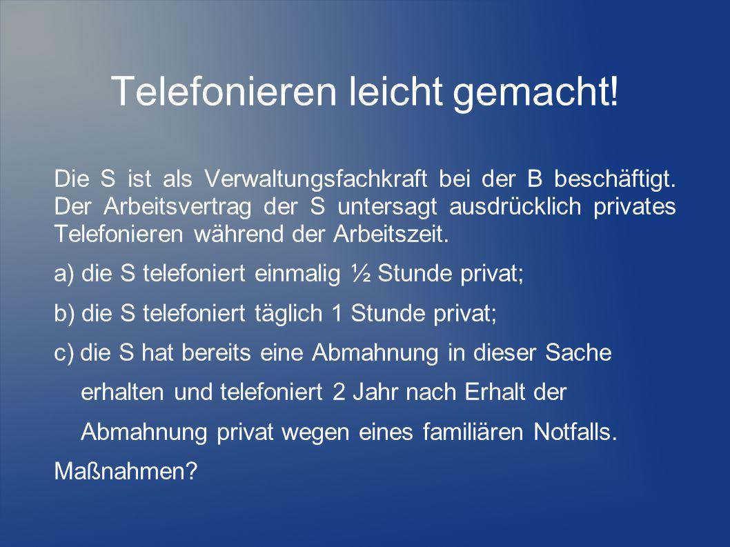 Telefonieren leicht gemacht!
