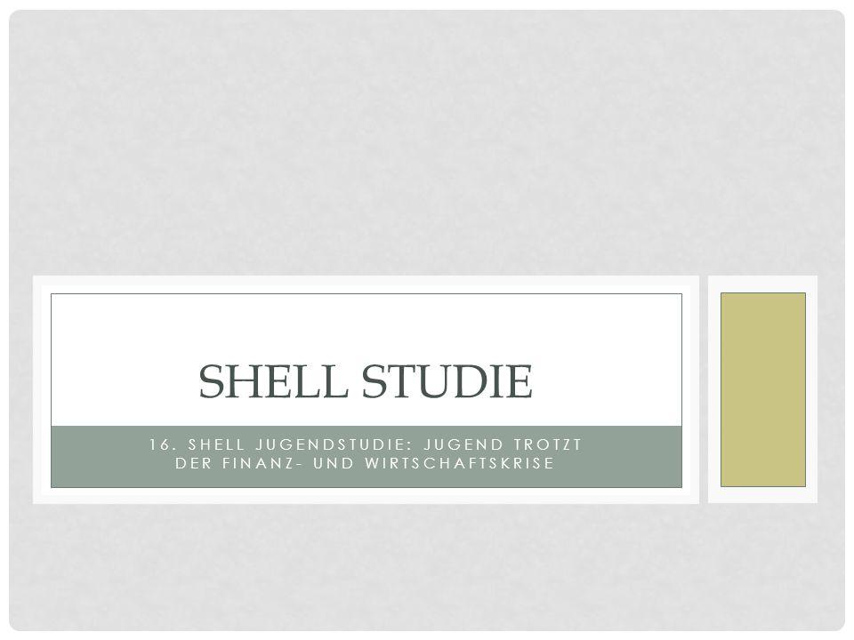 16. Shell Jugendstudie: Jugend trotzt der Finanz- und Wirtschaftskrise