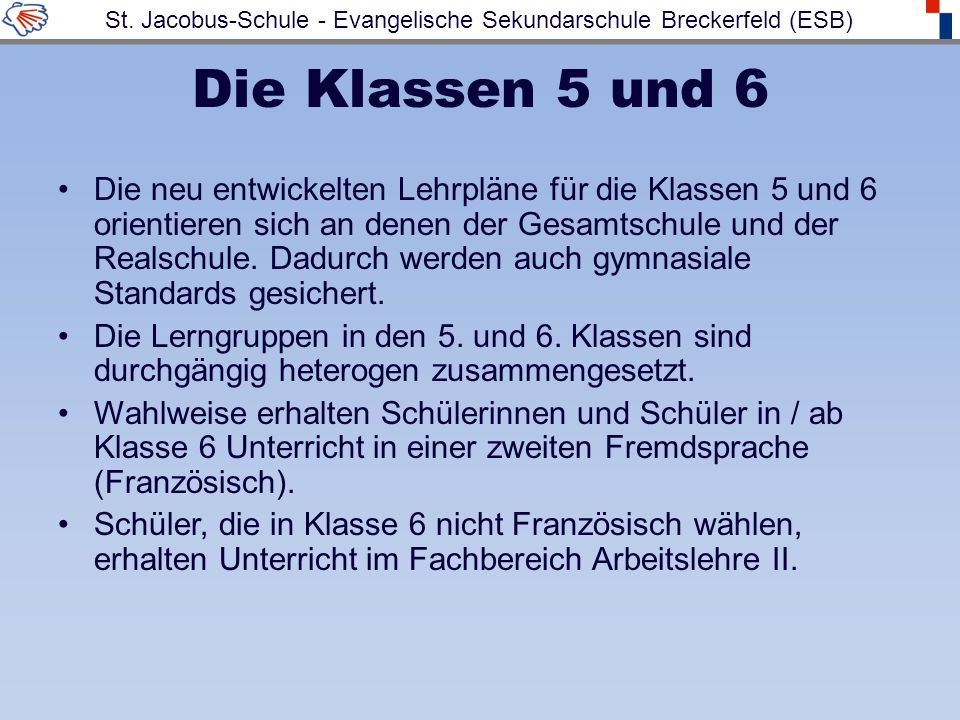 St. Jacobus-Schule - Evangelische Sekundarschule Breckerfeld (ESB)