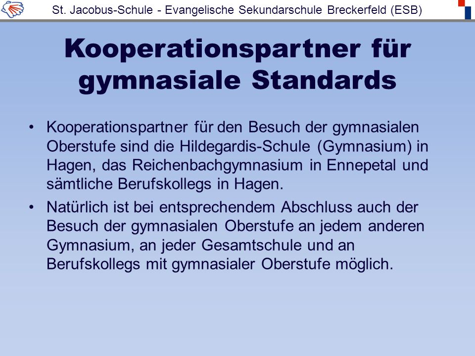 Kooperationspartner für gymnasiale Standards