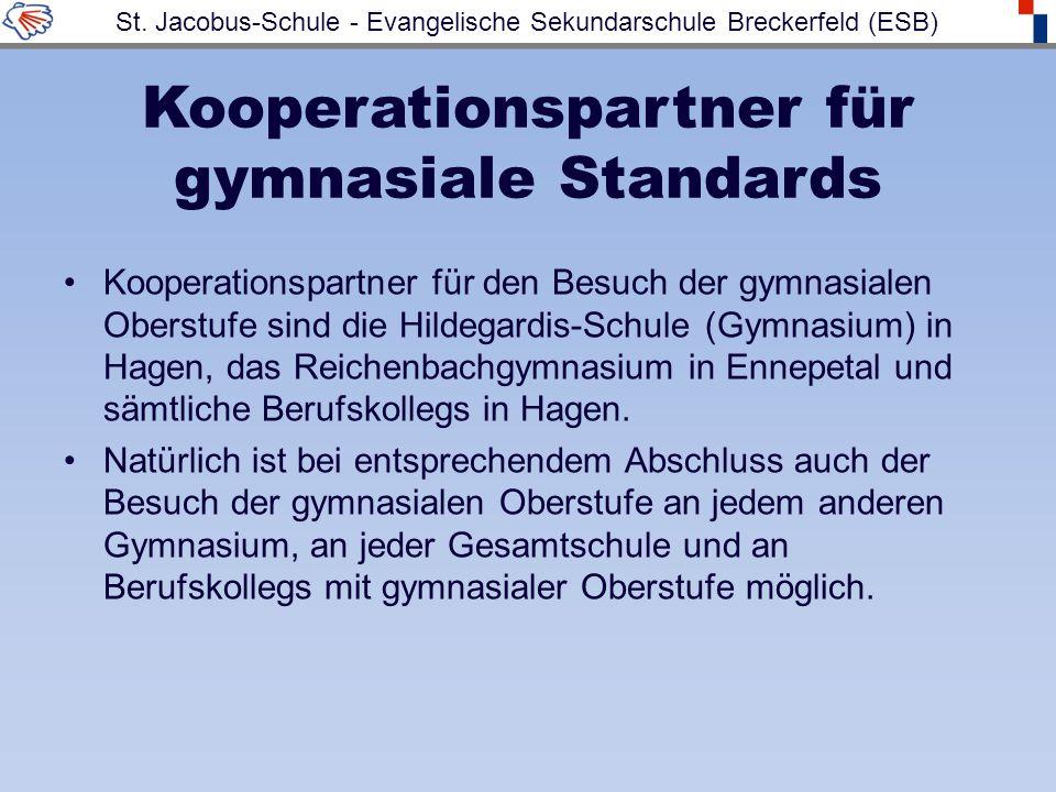 Kooperationspartner für gymnasiale Standards