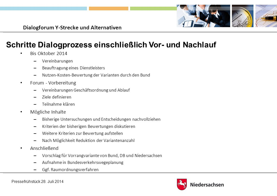 Dialogforum Y-Strecke und Alternativen
