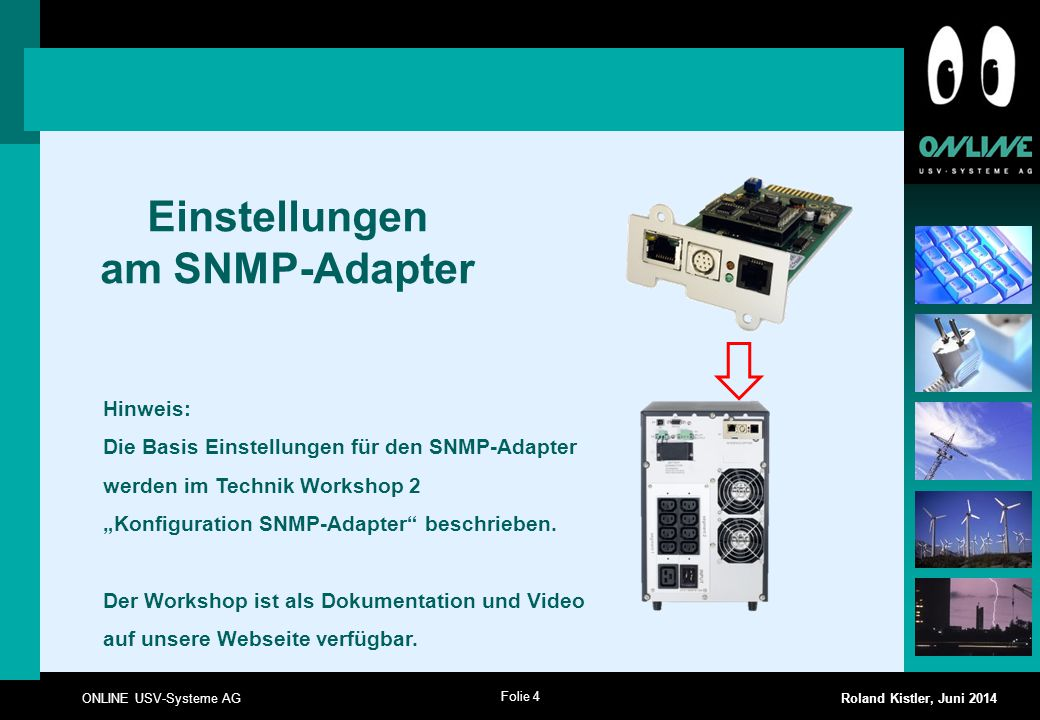 Einstellungen am SNMP-Adapter