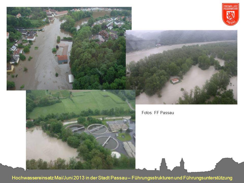 Fotos: FF Passau Impressionen. Oberes linkes Bild: Ölverschmutzung auf der Ilz.