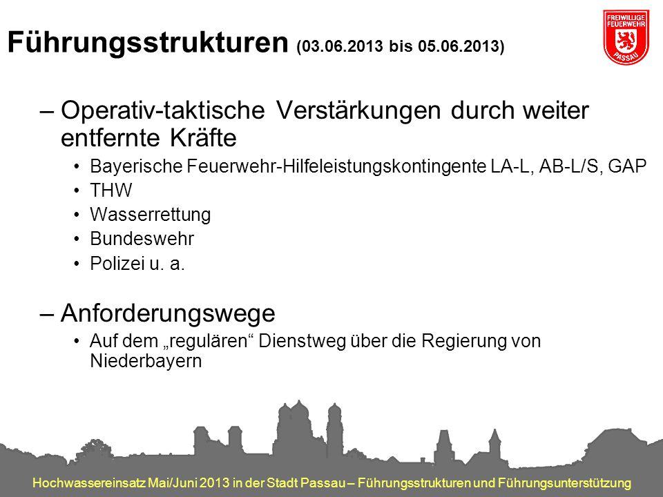 Führungsstrukturen (03.06.2013 bis 05.06.2013)