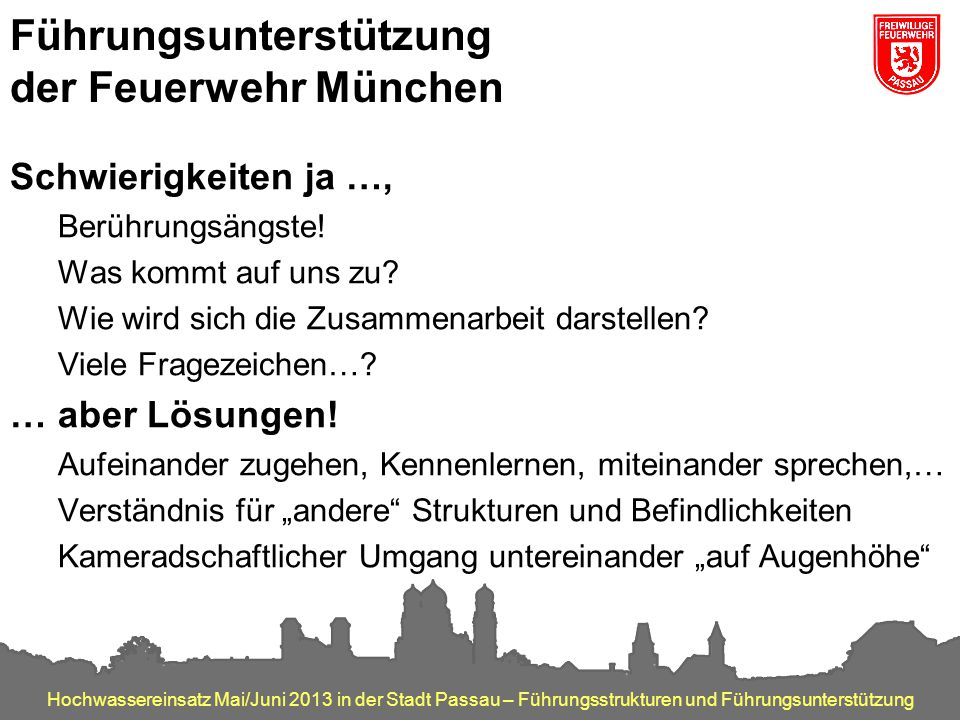 Führungsunterstützung der Feuerwehr München