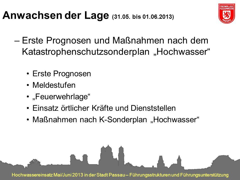Anwachsen der Lage (31.05. bis 01.06.2013)