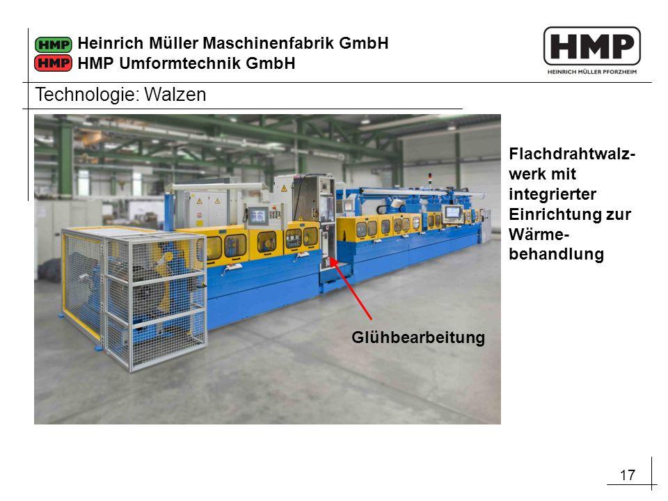 Technologie: Walzen Flachdrahtwalz-werk mit integrierter Einrichtung zur Wärme-behandlung.