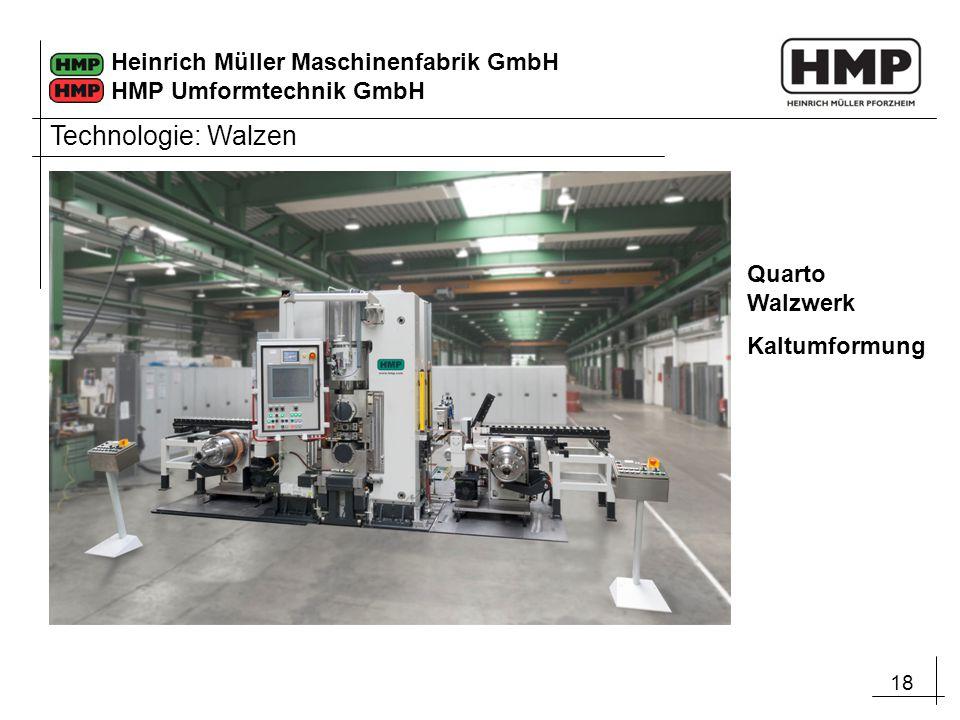 Technologie: Walzen Quarto Walzwerk Kaltumformung