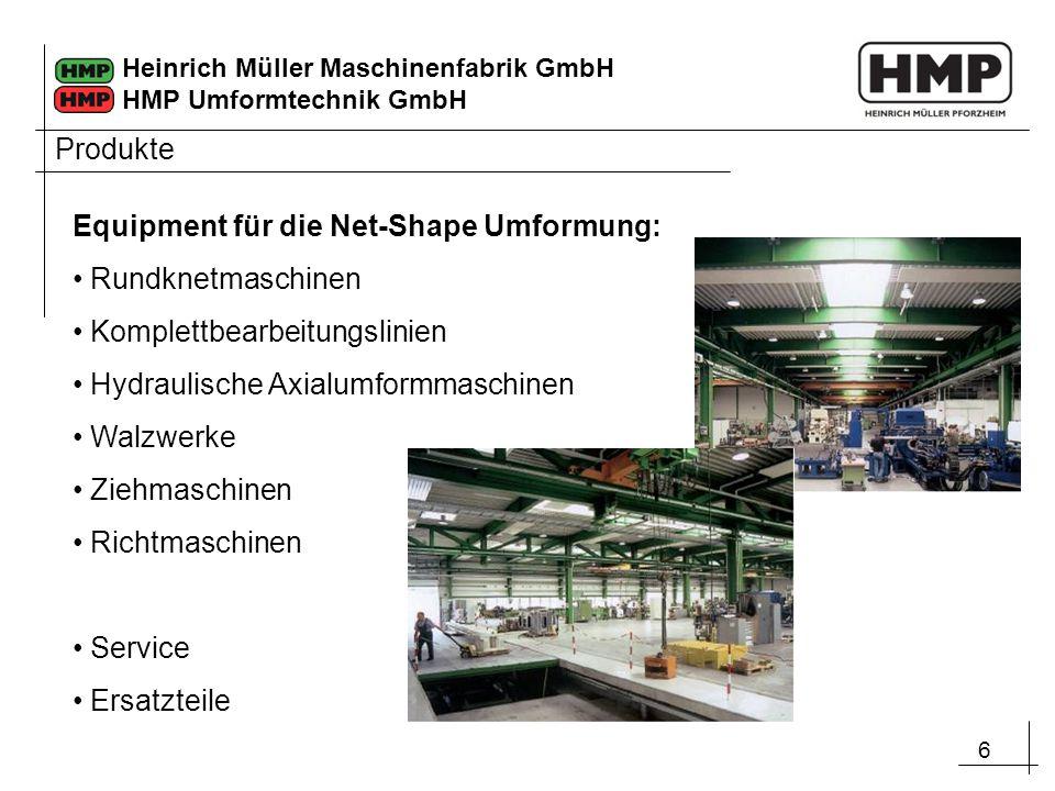 Produkte Equipment für die Net-Shape Umformung: Rundknetmaschinen. Komplettbearbeitungslinien. Hydraulische Axialumformmaschinen.