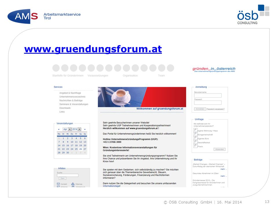www.gruendungsforum.at © ÖSB Consulting GmbH | 16. Mai 2014