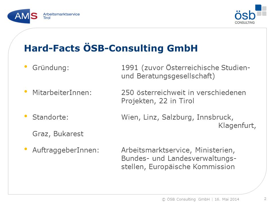 Hard-Facts ÖSB-Consulting GmbH