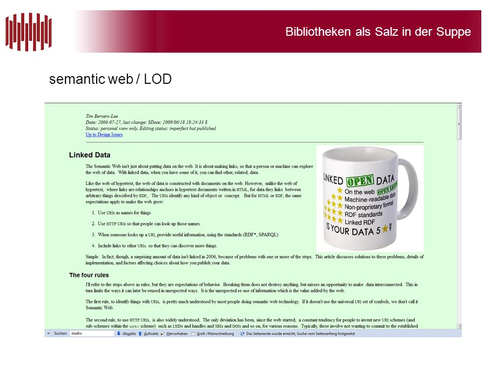 semantic web / LOD