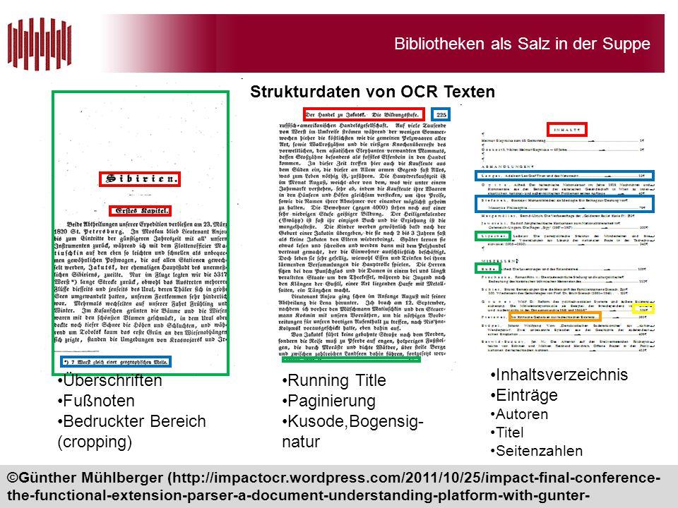 Strukturdaten von OCR Texten