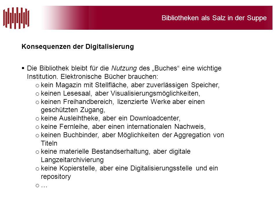 Konsequenzen der Digitalisierung