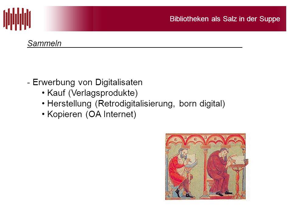 Erwerbung von Digitalisaten Kauf (Verlagsprodukte)