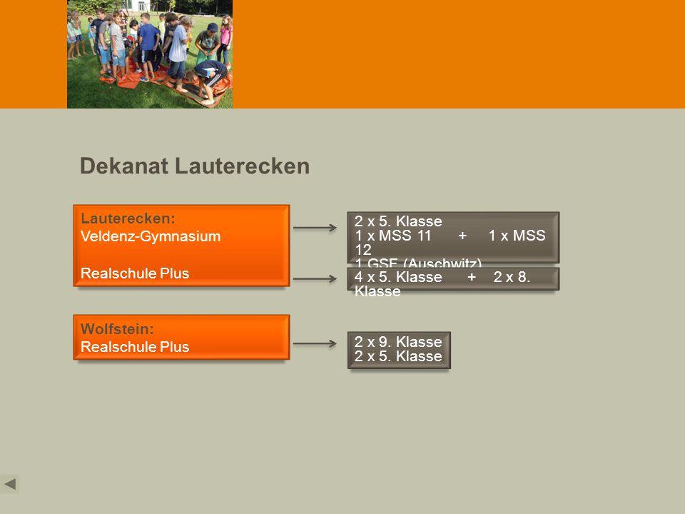 Dekanat Lauterecken Lauterecken: Veldenz-Gymnasium 2 x 5. Klasse