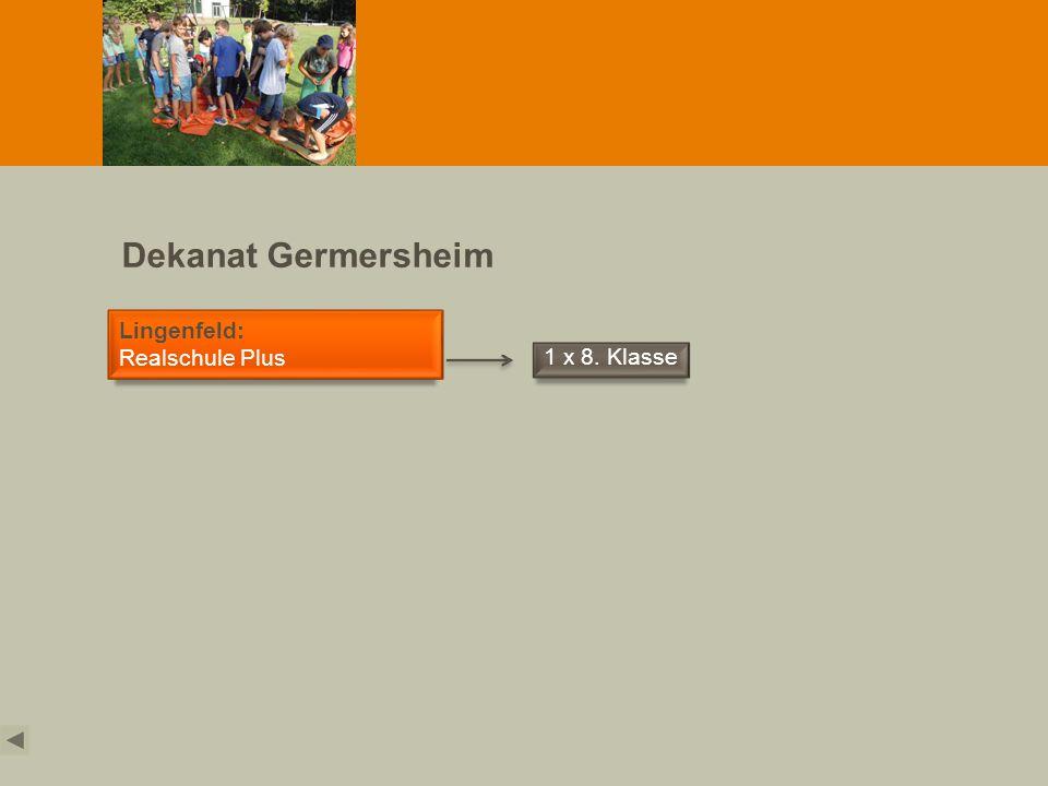 Dekanat Germersheim Lingenfeld: Realschule Plus 1 x 8. Klasse