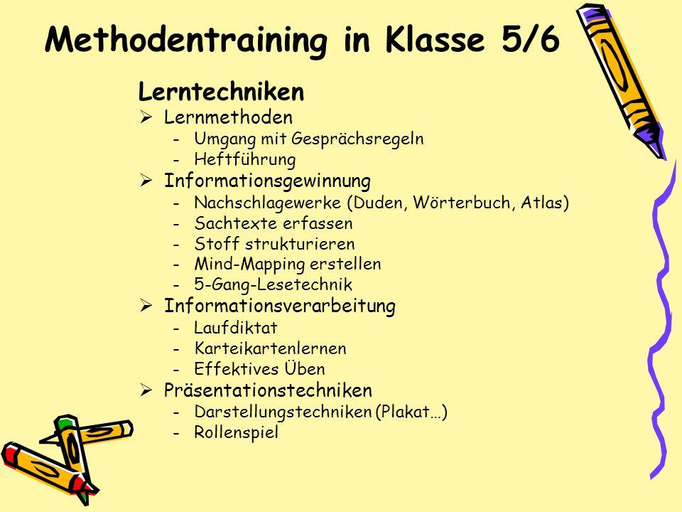 Methodentraining in Klasse 5/6