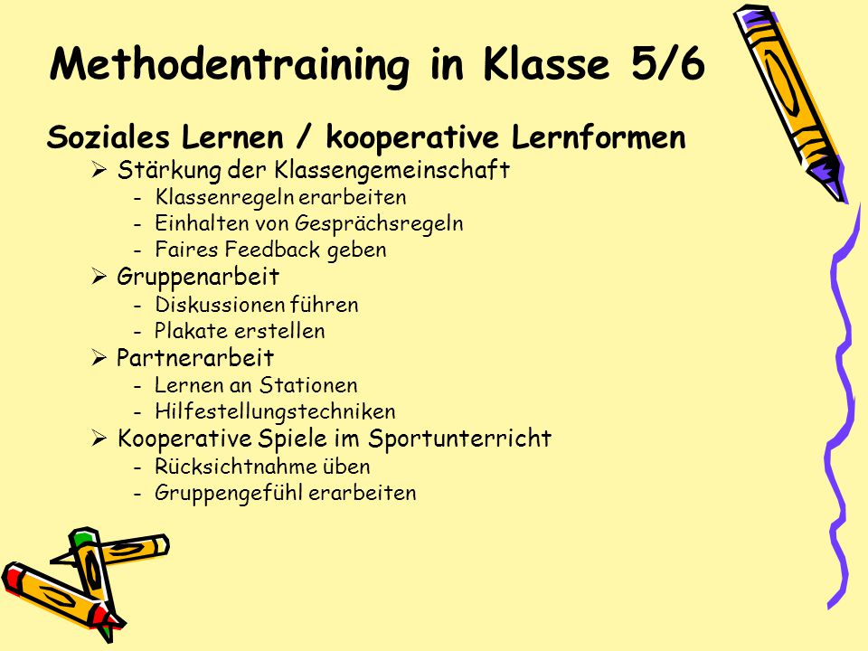 Methodentraining in Klasse 5/6