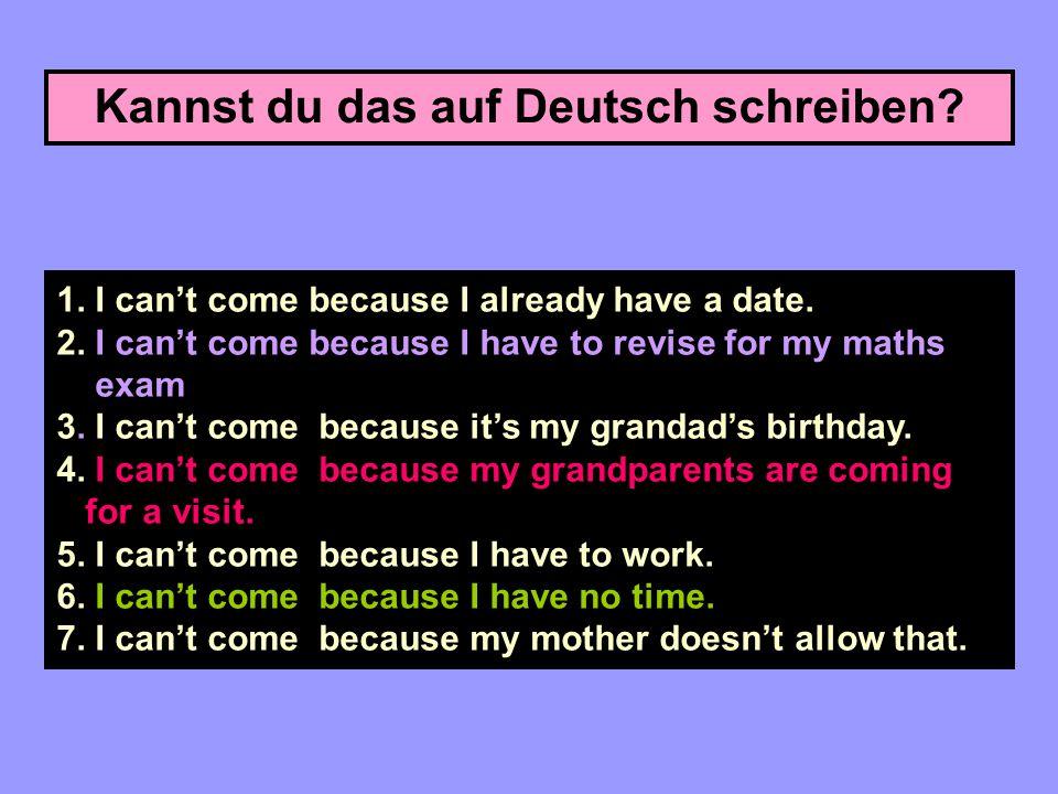 Kannst du das auf Deutsch schreiben