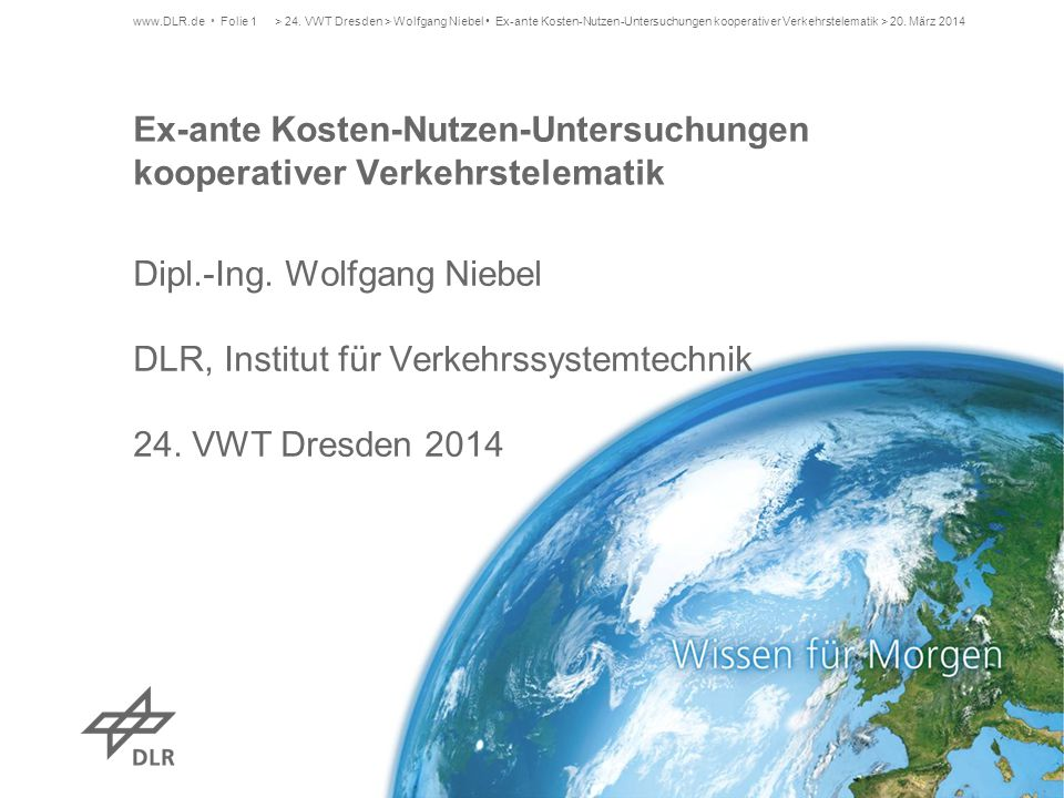 Ex-ante Kosten-Nutzen-Untersuchungen kooperativer Verkehrstelematik