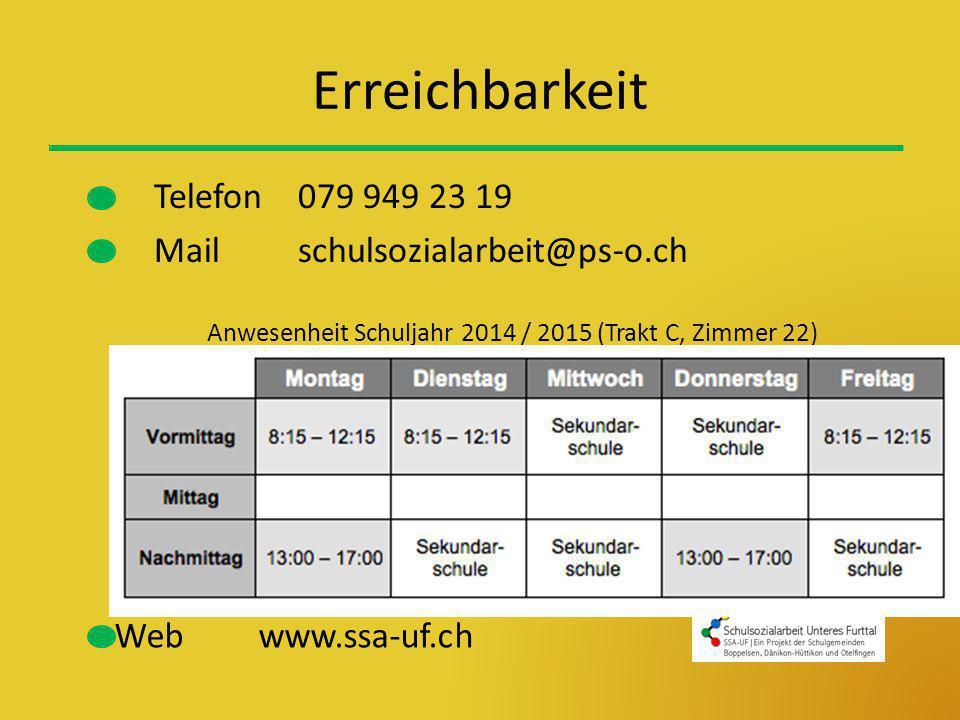 Erreichbarkeit Telefon 079 949 23 19 Mail schulsozialarbeit@ps-o.ch