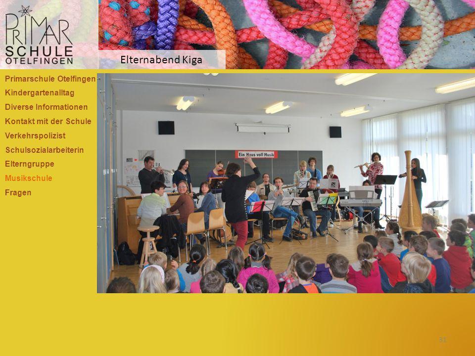 Elternabend Kiga Primarschule Otelfingen Kindergartenalltag