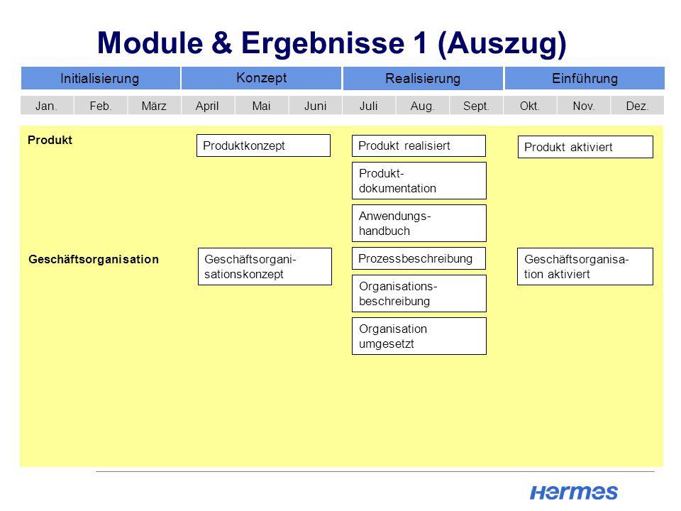 Module & Ergebnisse 1 (Auszug)