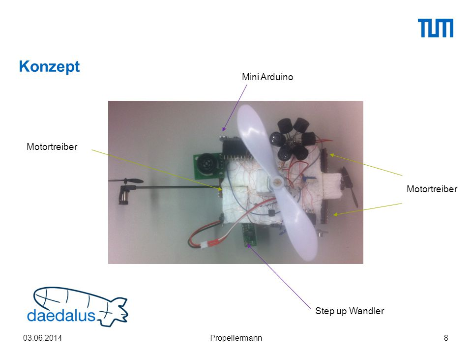 Konzept Mini Arduino Motortreiber Motortreiber Step up Wandler