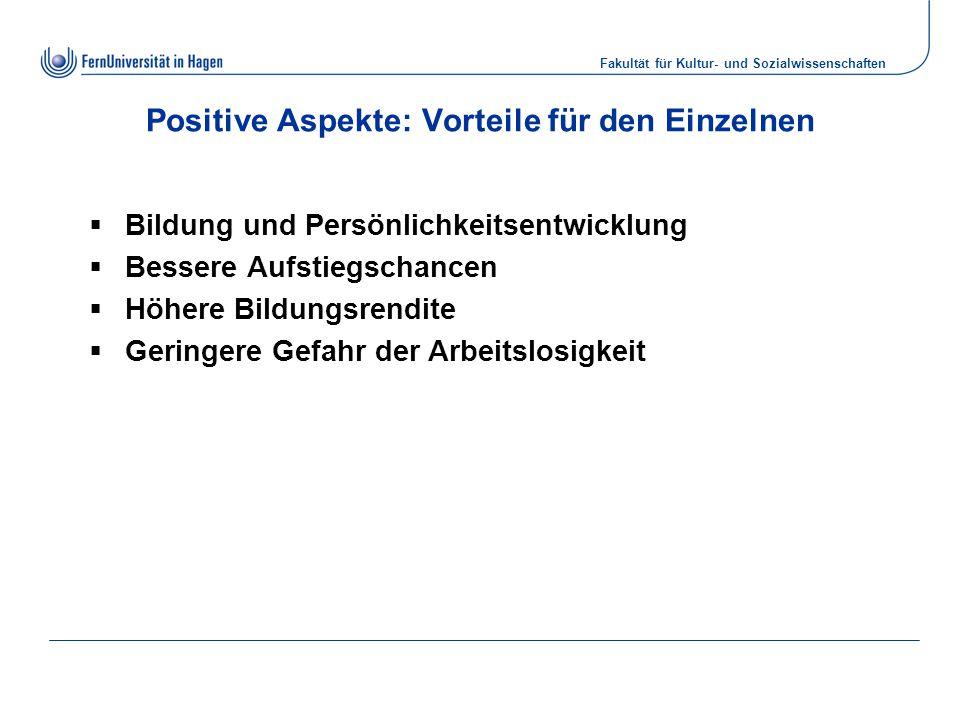 Positive Aspekte: Vorteile für den Einzelnen