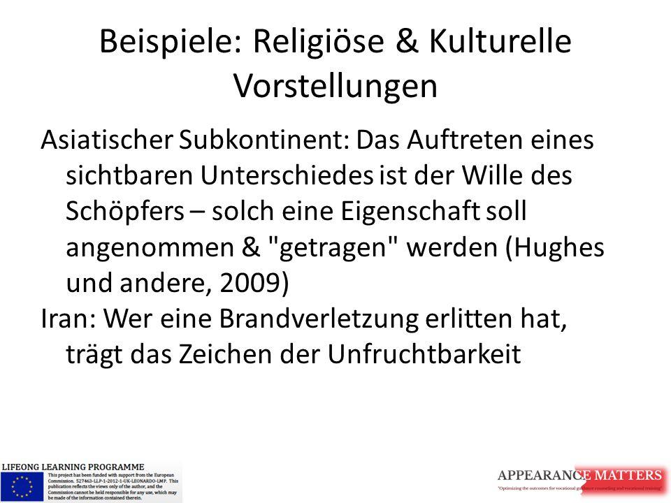 Beispiele: Religiöse & Kulturelle Vorstellungen